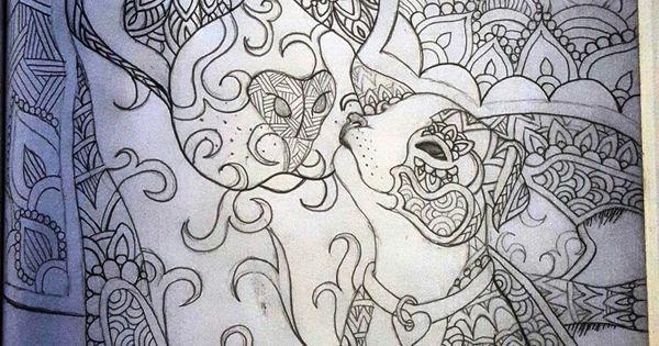 Pitbull And Puppy Mandala Art Puppies Pinterest
