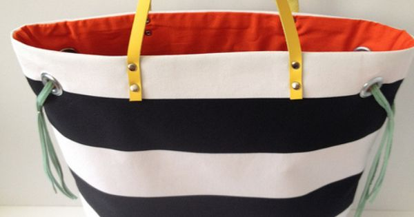 Stripe + Color Tote tutorial