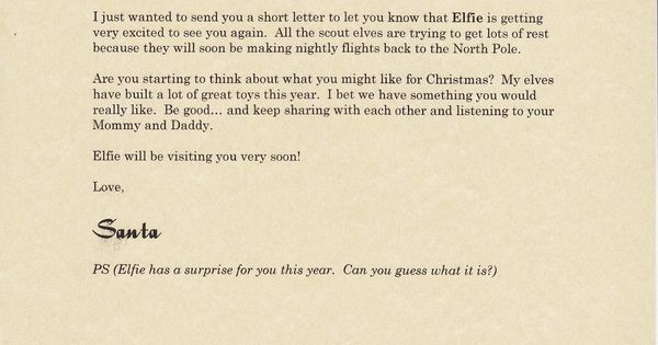 Letter from santa, Stationary printable and Santa north pole on ...