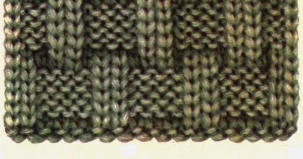 Simple Basket Weave Knitting Pattern : Great looking basket weave knit pattern with easy to