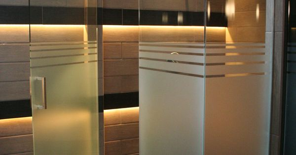 Half Etched Frosted Glass Shower Doors Not Sure About