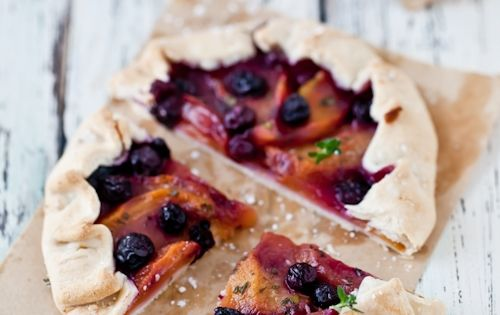 peach, blueberry lemon thyme galettes | SWEETS | Pinterest ...