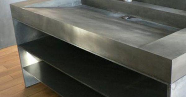betonnen dubbele wastafel | Badkamers | Pinterest | DIY furniture, Industrial design and Cement