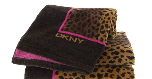 Dkny Leopard Print Towels Wild For Animal Prints
