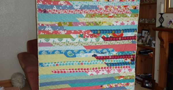 Wings Of Love Quilt Made Using One Jelly Roll Pattern