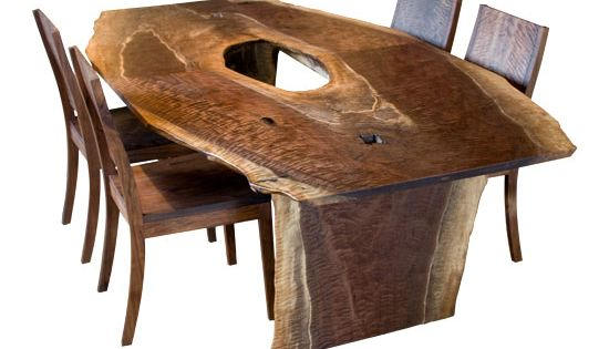 Fresh on the floor live edge dining table joinery