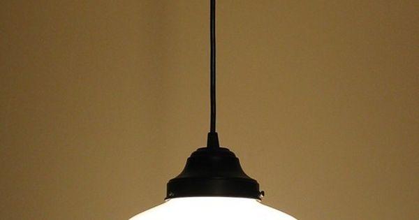Machias pendant light fixture school house replica