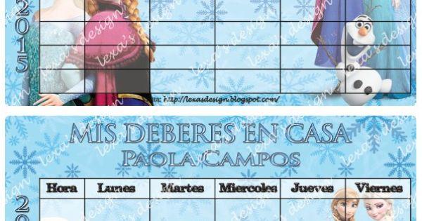 Etiquetas escolares imprimibles digitales frozen bsf for La caja sucursales horarios