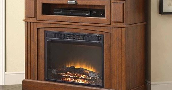 Brown Media Fireplace Tv Stand Combo Space Saver 400