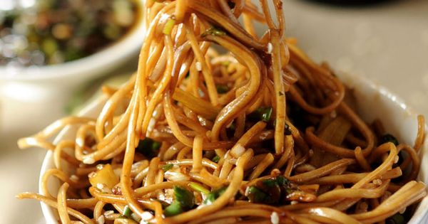 #Vegan never looked so good :-) Soba Noodles with Sweet Ginger Scallion