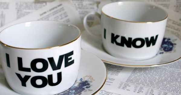 Tea Cups - Wedding gift idea for gin. From Star Wars