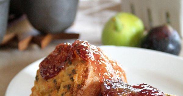 Lavender Popovers with Vanilla Fig Sauce | Recipe | Figs, Lavender ...