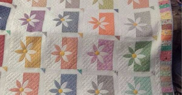 Shadow Daisy Quilt Quilting Pinterest