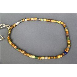 Antique Native American Indian Trade Bead Necklace Multi Color Y Trade Beads Native American Indians Native American