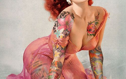 pin up tattoos | gil elvgren's work plus tattoo's!