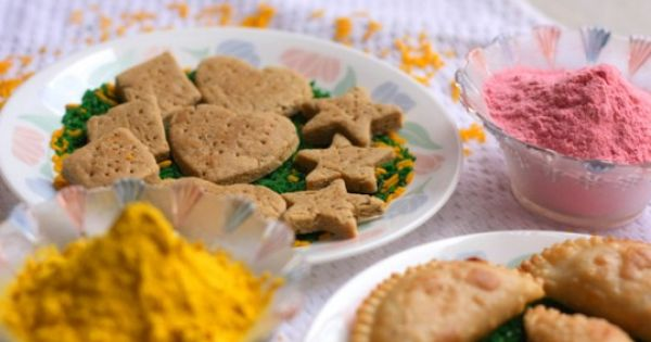 Baked Salted Crackers and Holi Special Gujia(not so fried version ...