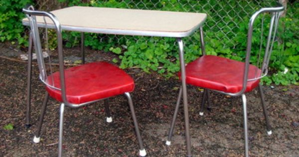 Vtg 50 S Children Table Chairs Set Retro Mid Century Table And
