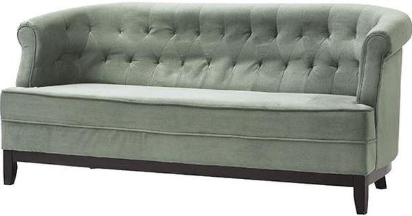 Sea Foam Velvet Tufted Sofa Design Amp Decor Pinterest