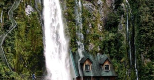 Switzerland - Waterfall House. It's such a beautiful country.
