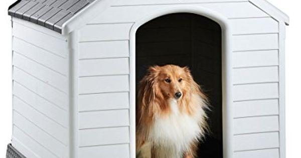 Milo Misty Large Plastic Dog House Outdoor Kennel For Pet