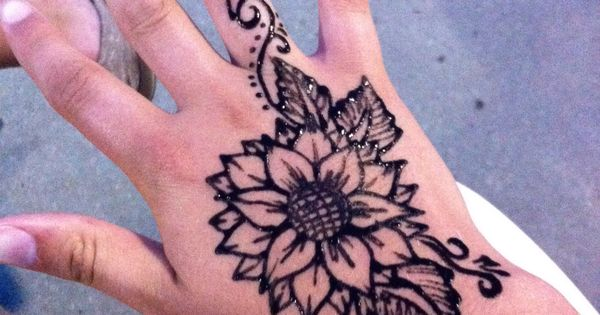 Sunflower Henna Tattoo: Henna, Sunflowers And Henna Tattoos On Pinterest