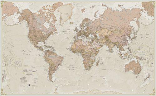 Antique World Map Mapa Mural Del Mundo Mapas Murales Murales