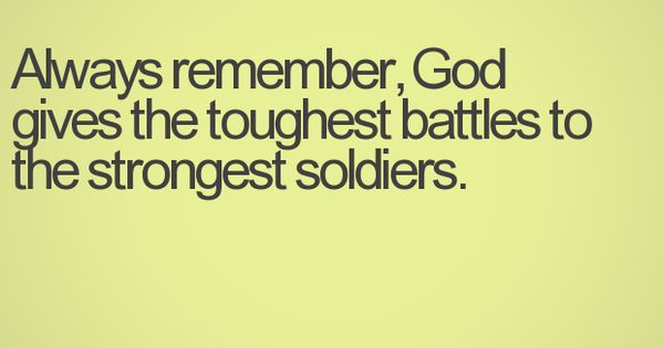 During the tough times...