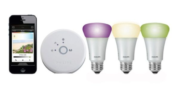 Ampoules Connectees Philips Starter Kit Ampoules Hue Philips Hue Philips Domotique