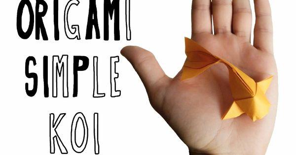 Simple koi tutorial for Origami koi tutorial