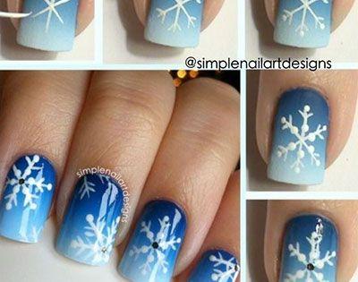 Easy Christmas Nail Art Tutorials 2013/ 2014   X mas Nails  