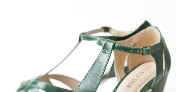 Nicole T-strap Heels By Chelsea Crew ruche