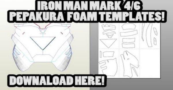 Download iron man mark 4 6 pepakura foam template files for Iron man foam armor templates