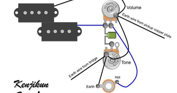 p bass wiring diagram google search guitar repair pinterest bass guitars and instruments. Black Bedroom Furniture Sets. Home Design Ideas