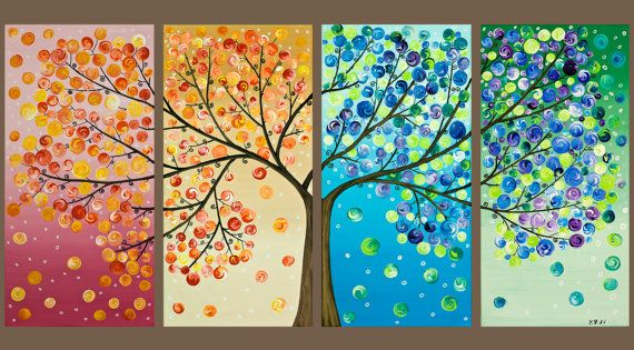 seasons. love this seasons treeart