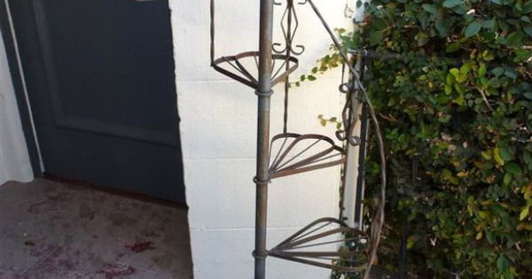 Wrought Iron Spiral Plant Staircase Stand Discover More