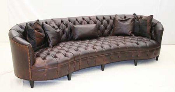 Curved Tufted Leather Sofa Tufted Leather Sofa Leather Curved Sofa Curved Sofa