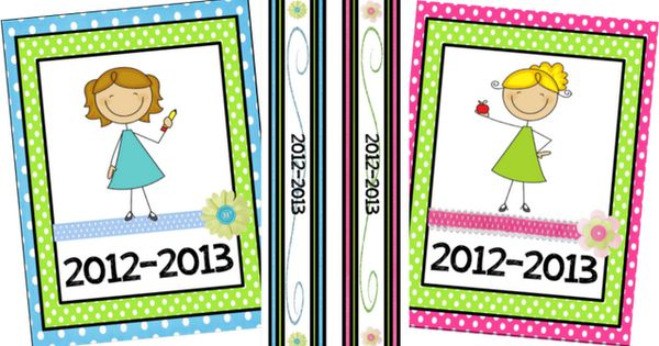 FREE Printable binder covers, inserts, calendars....these are SO cute!!!