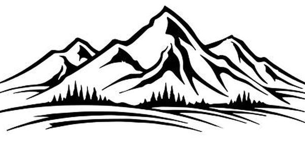 Https Www Etsy Com Listing 514771034 Mountain Range Decal Hydro Flask Water Ga Order Most Relevant Black And White Artwork Stock Illustration Free Clip Art