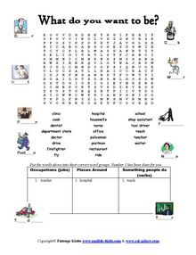 ESL,Jobs, occupations worksheets English vocabulary ...
