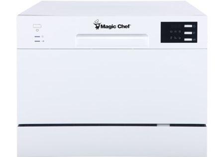 Magic Chef Energy Star 6 Place Setting Countertop Dishwasher Walmart Com Countertop Dishwasher Portable Dishwasher Magic Chef