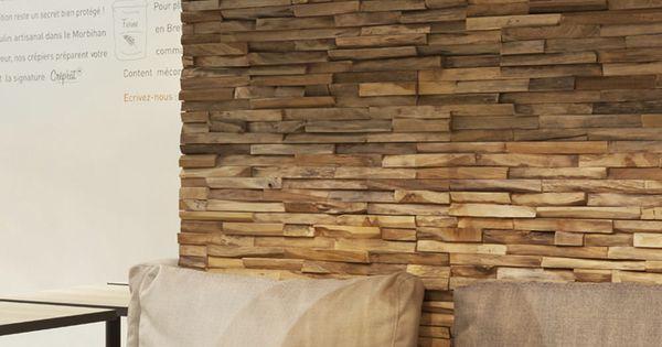 parement en bois pour le mur du salon murs pinterest salons. Black Bedroom Furniture Sets. Home Design Ideas