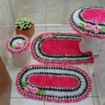 Bath Crochet Patterns Part 7 Beautiful Crochet Patterns And Knitting Patterns Jogos De Banheiro Croche Jogos De Croche Jogo Tapete Banheiro