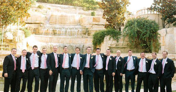 Wedding tie - gents in pink ties | Akil Bennett #wedding