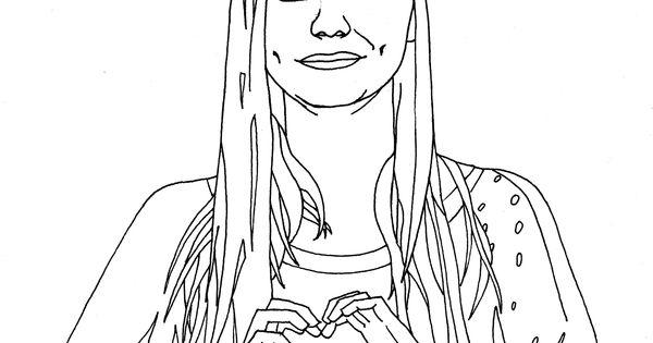 Louane emera un dessin imprimer et colorier par marion c celebrities coloring pages - Coloriage chanteuse ...