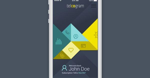 Telcogram iOS app menu #UI | 04 UI | Pinterest | iOS App ...