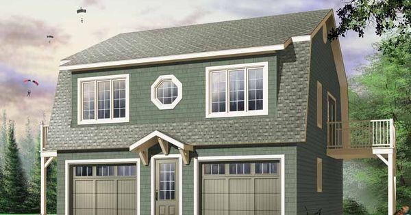 guest house ~ Two Story Garage Plans | Two-Bedroom Garage ...