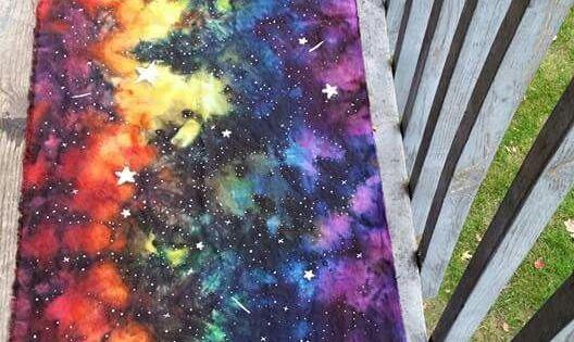 Rainbow Galaxy Liquid Ice Dyed Linen Ring Sling Baby