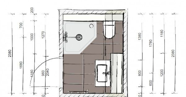 Ontwerp voor een kleine badkamer kleine badkamer pinterest - Lay outs badkamer ...