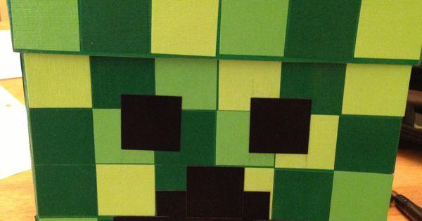 minecraft shade template - minecraft creeper valentine box valentines day