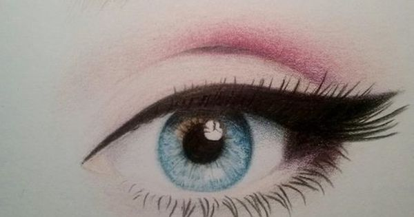 how to draw a right eye